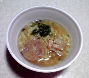 函館麺厨房 あじさい 函館塩拉麺(カップ版)(できあがり)