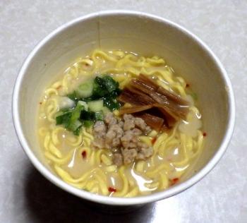 ご当地最前線 京都こってり鶏白湯麺(できあがり)