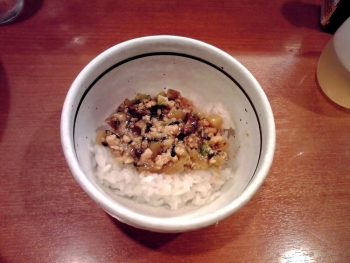 麺屋えぐち 特製まぜそば(締めご飯)