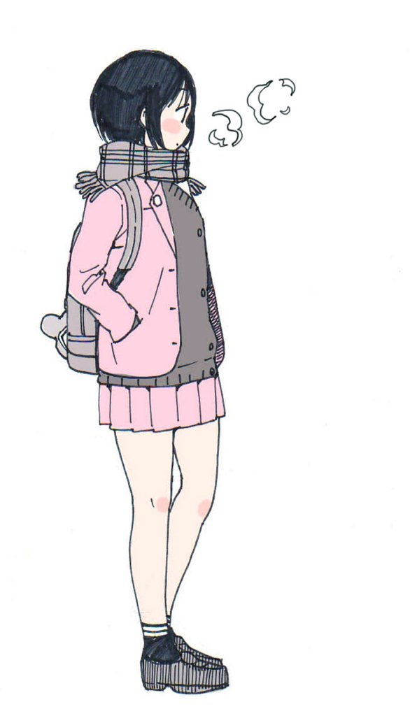 女子高生の冬服はどう考えても下半身は異常に寒い