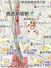 配布イベント場所の地図 縮小