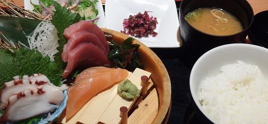 151116犬山魚民のお造り定食