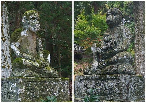 151124鳴谷神社の猿