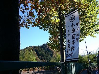 小原本陣祭旗と嵐山