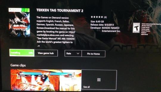 Tekken Tag 2 Backwards Compatible Xbox One