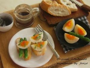 ゆで卵のタルティーヌ2