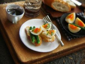 ゆで卵のタルティーヌ3