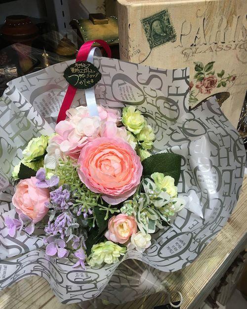 花束3ピンク