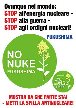 Ovunque nel mondo: STOP all'energia nucleare - STOP alla guerra - STOP agli ordigni nucleari.