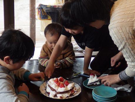 バレンタインケーキ1