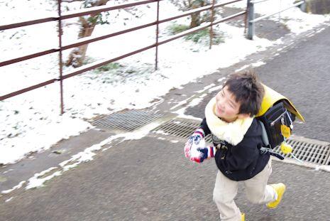 雪の通学路1