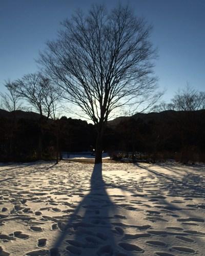 湖尻、雪景色