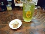緑茶ハイ&つまみ@きび太郎