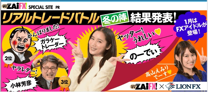 【最終結果】ZAiFXさん×ヒロセ通商さんリアルトレードバトル【冬の陣】