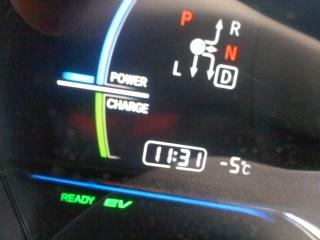 気温マイナス5℃