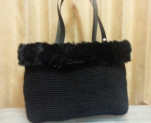 2015.12黒ファー付きバッグ