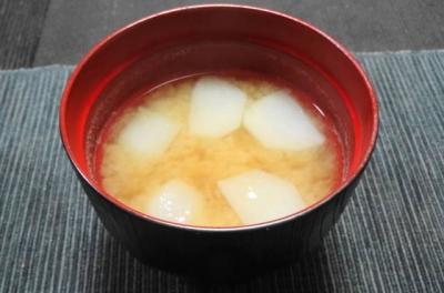 小蕪の味噌汁