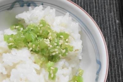 かぶ菜とご飯