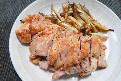 鶏胸肉の塩麹ステーキ