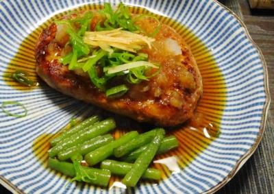 アジ豆腐ハンバーグ おろしポン酢
