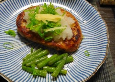 アジ豆腐ハンバーグ