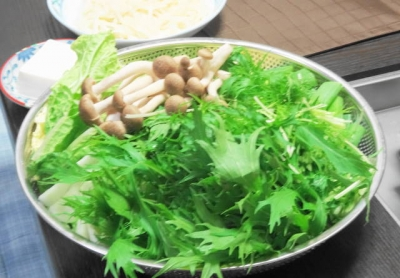 野菜・豆腐・〆のうどん