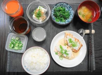 鶏の塩こうじ焼き一汁三菜ご飯