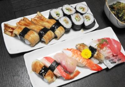 上握り、穴子寿司
