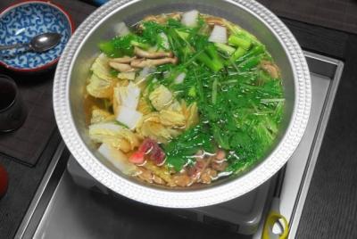 脂身と野菜