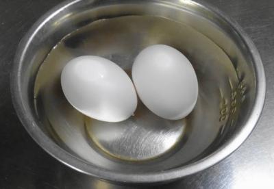 卵を常温に戻す