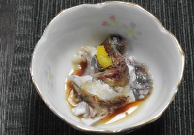 鯛皮の湯引き