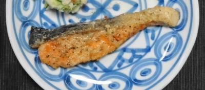 鮭のムニエルUP