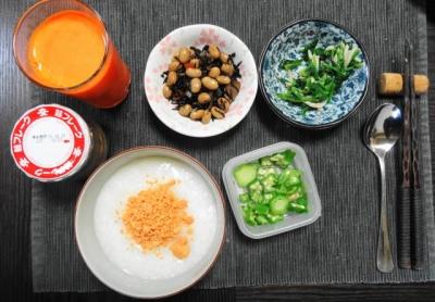 鮭粥 朝食セット