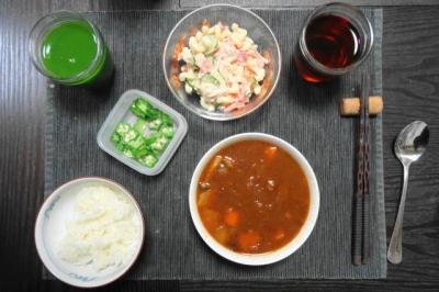ビーフシチューの日本式晩ご飯
