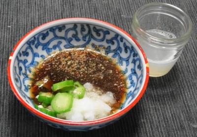 おろしポン酢ダレ、大根の搾り汁