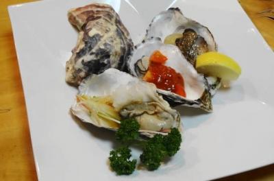 牡蠣 三色盛り