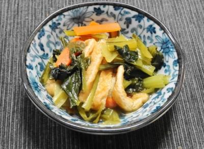 小松菜とお揚げさんの炊いたん