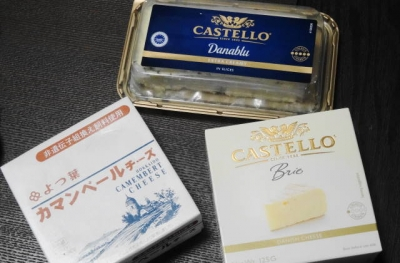 ブルーチーズ、カマンベール、ブリ―