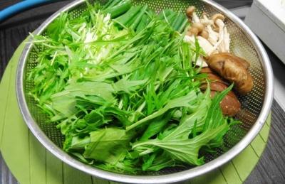 鴨なべの野菜