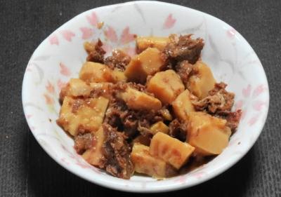 牛肉とタケノコの佃煮