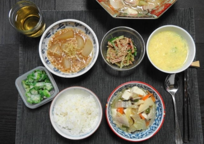 中華定食みたいな、八宝菜ご膳