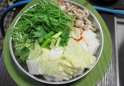 白菜・水菜・ネギ・シメジ&根菜類