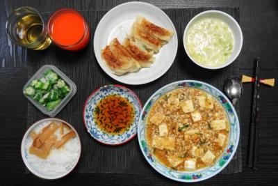 麻婆豆腐&餃子ご飯