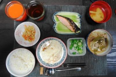 湯葉と鮭、切干大根のマクロビ御膳