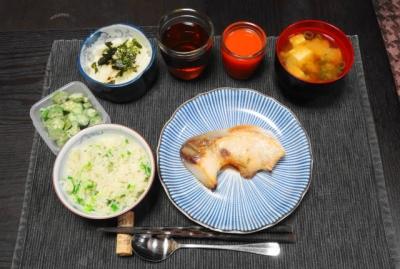 寒ぶりの塩焼き かぶ菜めしセット