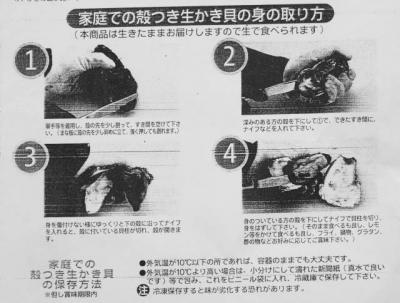 生牡蠣の打ち方