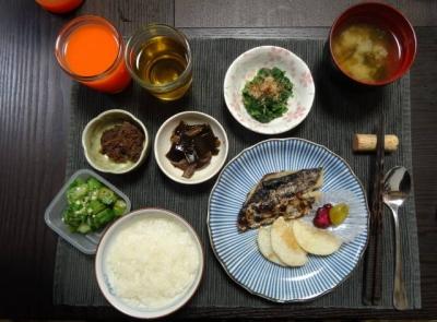 魚と小鉢のマクロビご飯