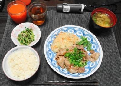 豚しゃぶ肉の生姜焼きセット