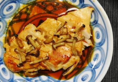 鶏胸肉の塩こうじ焼き・和風ソースUP