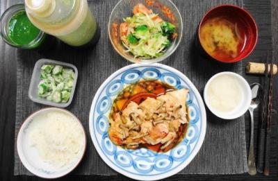 鶏胸肉の塩こうじ焼く ヘルシーマクロビご飯